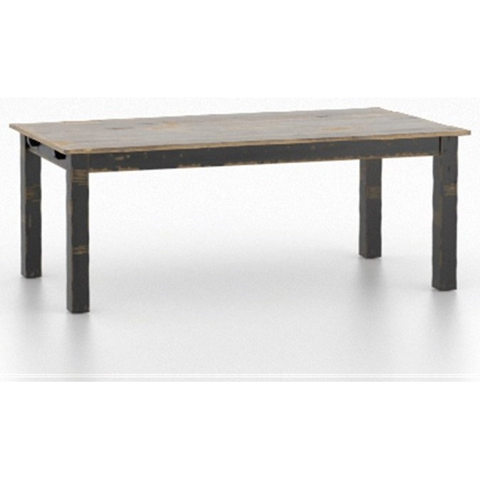 Champlain - Custom Dining Customizable Rectangular Table by Canadel at Jordan's Home Furnishings