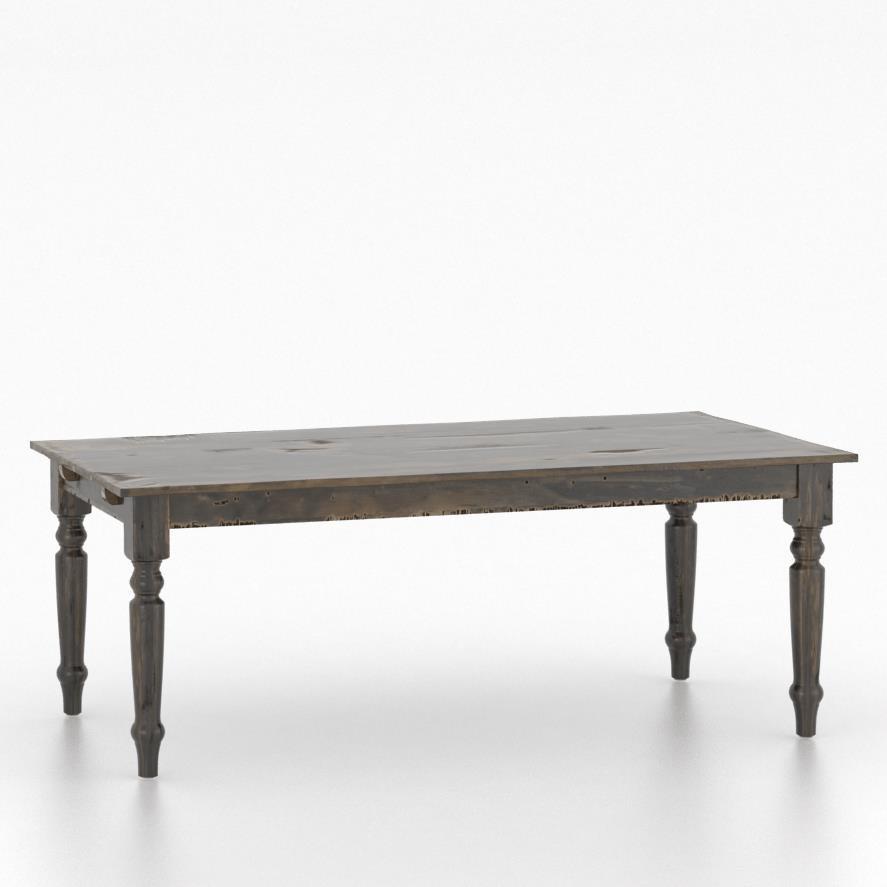 Champlain - Custom Dining Customizable Rectangular Table by Canadel at Jordan's Home Furnishings