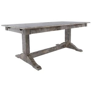 Customizable Rectangular Table w/ Trestle