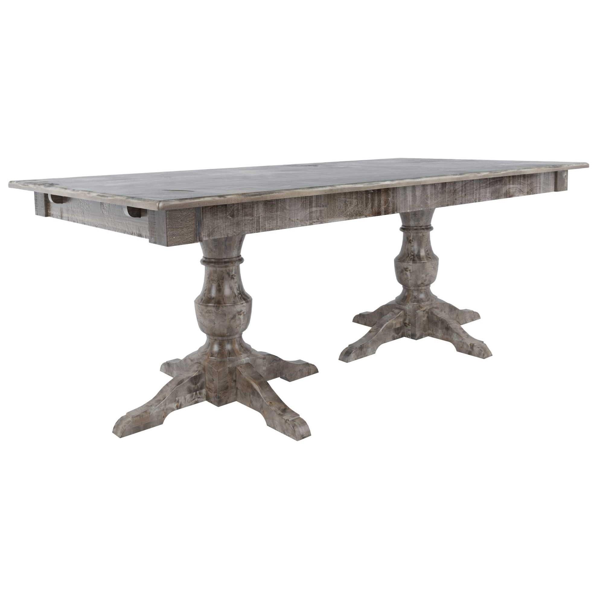 Customizable Rectangular Wood Top Table