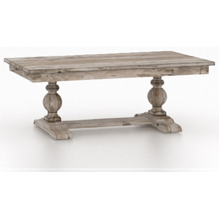 Champlain - Custom Dining Customizable Rectangular Table w/ Trestle by Canadel at Jordan's Home Furnishings