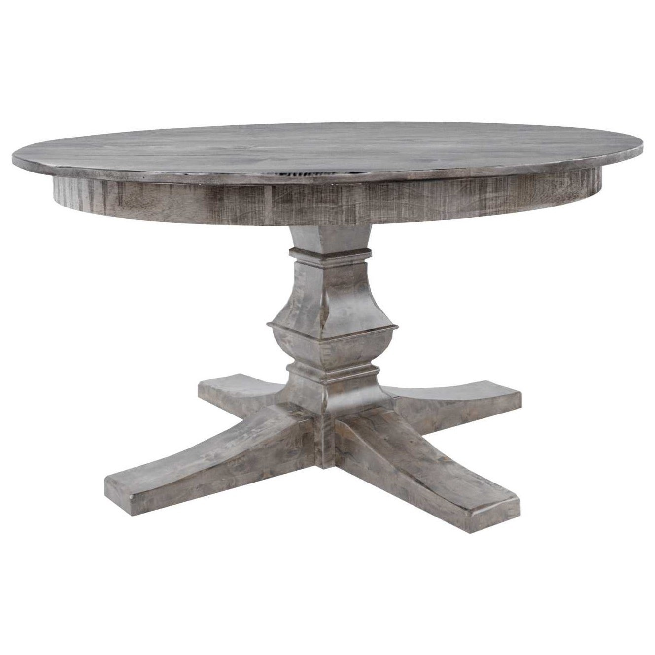 "Champlain - Custom Dining Customizable 48"" Round Wood Solid Top Table by Canadel at Saugerties Furniture Mart"