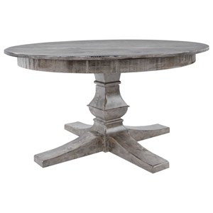"Customizable 48"" Round Wood Solid Top Table"