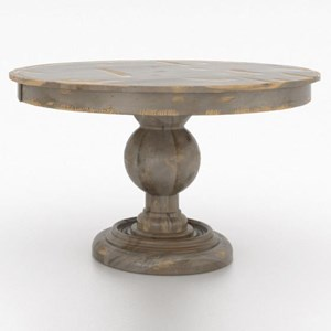 "48"" Round Wood Solid Top Table"
