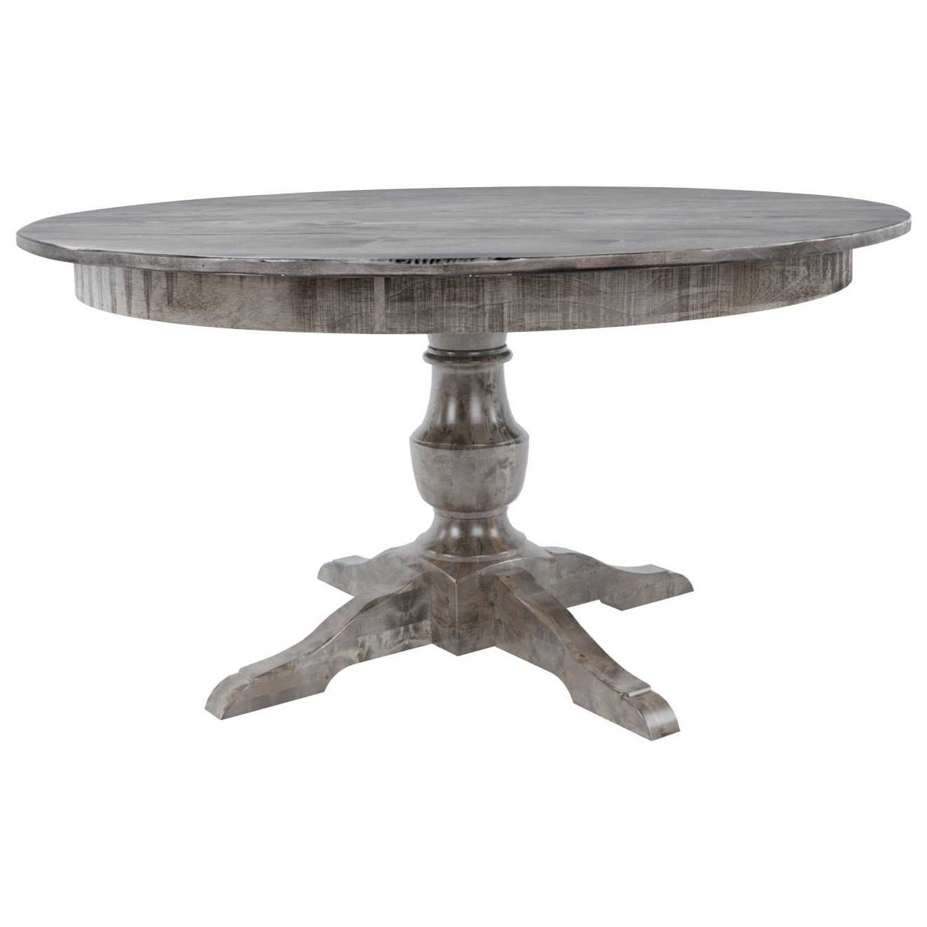 "Customizable 54"" Round Wood Solid Top Table"