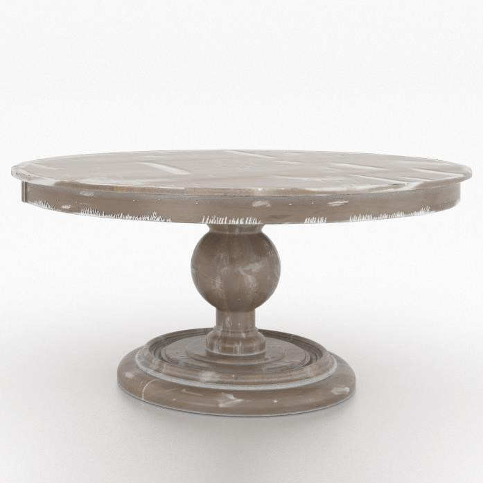 """Customizable 60"""" Round Wood Solid Top Table"""