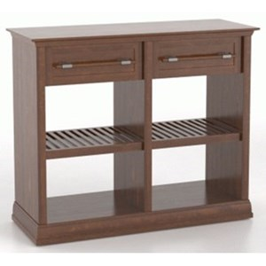 Customizable Buffet with Open Shelves