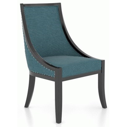 Classic Customizable Upholstered Chair by Canadel at Dinette Depot