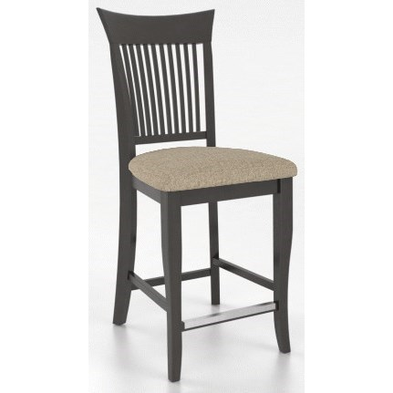 "Classic Customizable 24"" Stool with Upholstered Seat by Canadel at Dinette Depot"