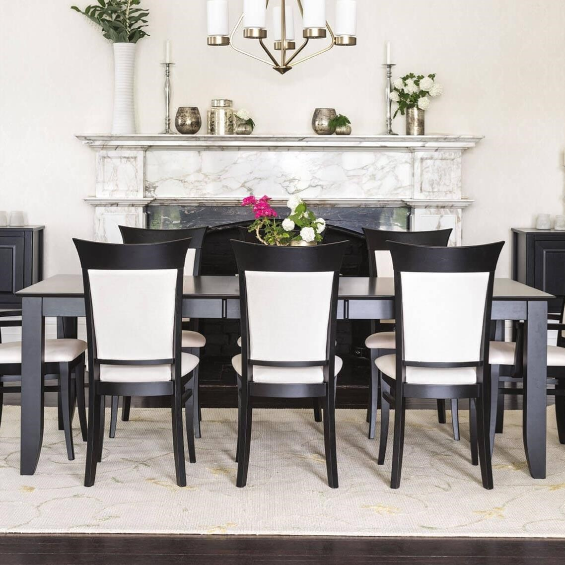 Canadel Classic Customizable Rectangular Dining Table With Self Storing Leaf Sheely S Furniture Appliance Dining Tables