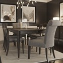 Canadel Classic Rectangular Dining Table Set - Item Number: TRE3868+2xCNN320+4xCNN5153