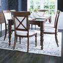 Canadel Classic Rectangular Dining Table Set - Item Number: TRE4368+6xCNN5164