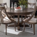 Canadel Classic Customizable Round Dining Table - Item Number: TRN060604949MCPNF+BAS
