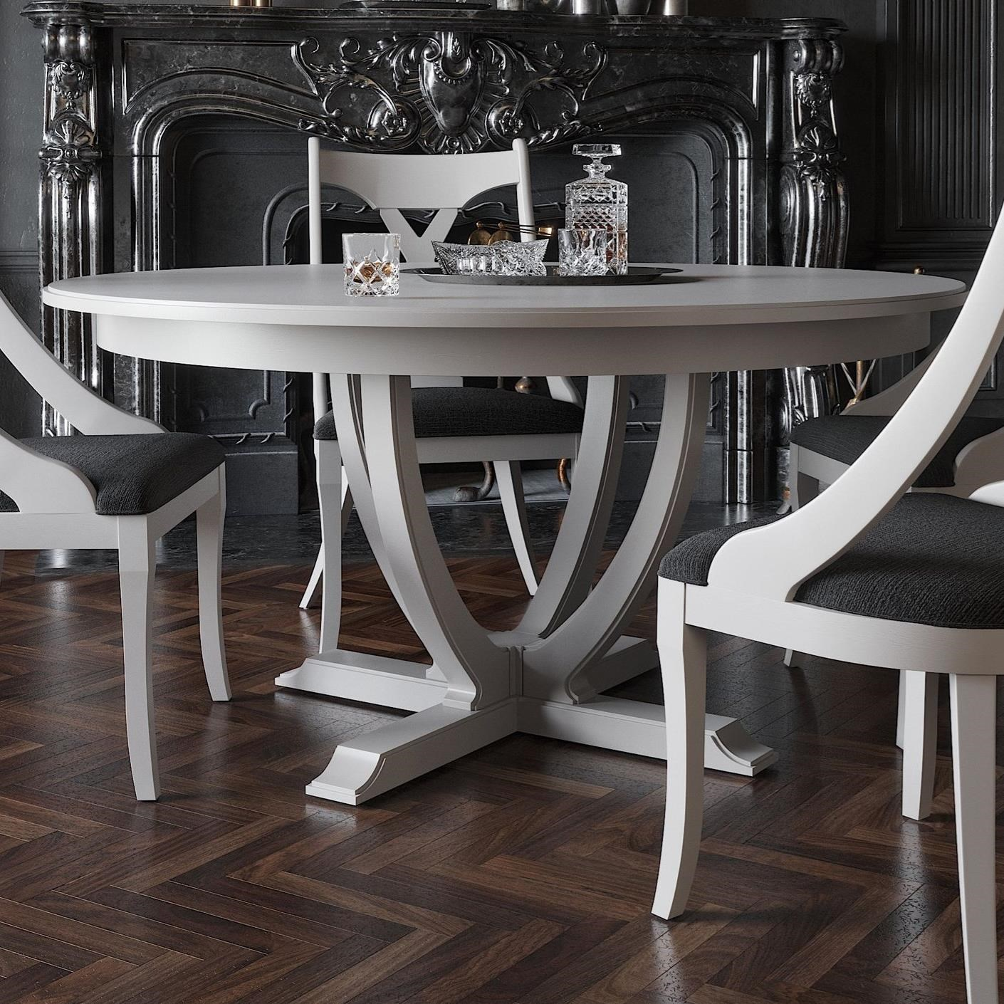Canadel Classic Customizable Round Dining Table | Becker ...