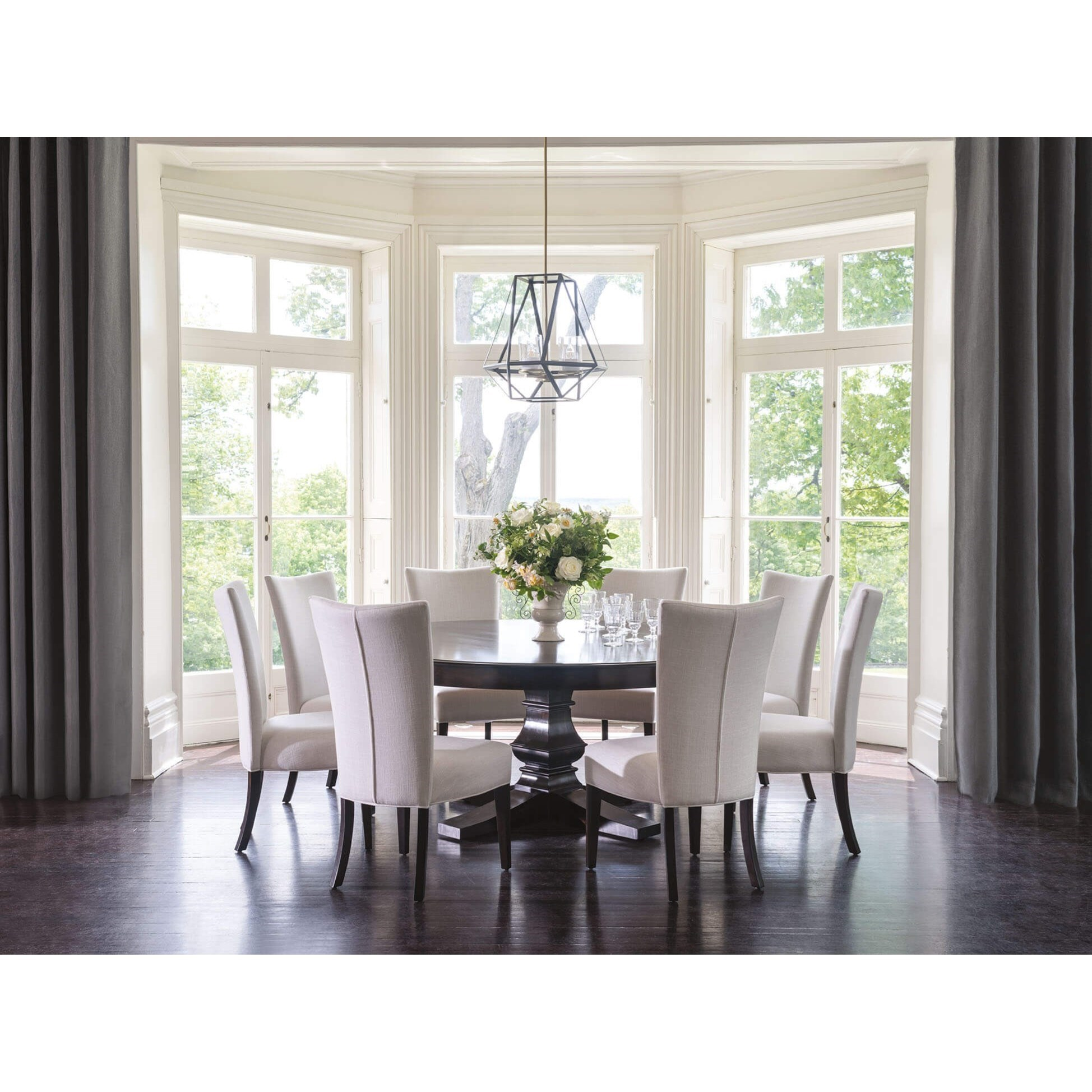 canadel classic 9 piece 72 round dining table set godby home furnishings dining 7 or more. Black Bedroom Furniture Sets. Home Design Ideas