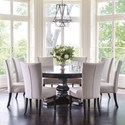 """Canadel Classic 9-Piece 72"""" Round Dining Table Set - Item Number: TRN072721818GTPAF+BAS+8xCNN05013"""