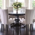 """Canadel Classic Customizable 72"""" Round Dining Table - Item Number: TRN072721818GTPAF+BAS"""