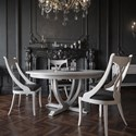 Canadel Classic Round Dining Table Set - Item Number: TRN6060+4xCNN5160