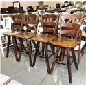 Canadel Clearance A Set of 4 Solid Wood Stools - Item Number: 007640023