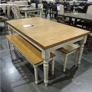 Canadel Clearance Table w/ 2 Benches