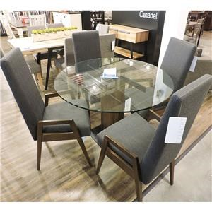 """Eastside 48"""" Round Table With 4 Arm Chairs"""