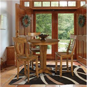 Canadel Custom Dining - High Dining  <b>Customizable</b> 4 Pc. Pub Table Set
