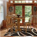 Canadel Custom Dining - High Dining  <b>Customizable</b> 4 Pc. Pub Table Set - Item Number: TAB 0-2094-0404A+BAS+3XSTO 0100