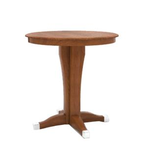 "Canadel Custom Dining - High Dining  <b>Customizable</b> 35.25"" Round Pub Table"