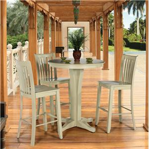 Canadel Custom Dining - High Dining  <b>Customizable</b> Round Pub Table Set