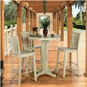 Canadel Custom Dining - High Dining  <b>Customizable</b> Round Pub Table Set - Item Number: TAB 0-2098-6868A+BAS+3XSTO0351