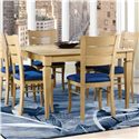 Canadel Custom Dining <b>Customizable</b> Square Table with Legs - Item Number: TSQ048482020MPBC1