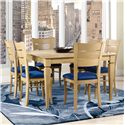 Canadel Custom Dining <b>Customizable</b> Square Table Set - Item Number: TSQ4848+6xCHA2399
