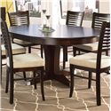 Canadel Custom Dining <b>Customizable</b> Round Table w/ Pedestal - Item Number: TRN048481818MXAD1