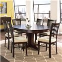 Canadel Custom Dining <b>Customizable</b> Round Table Set  - Item Number: TRN4848+6xCHA229