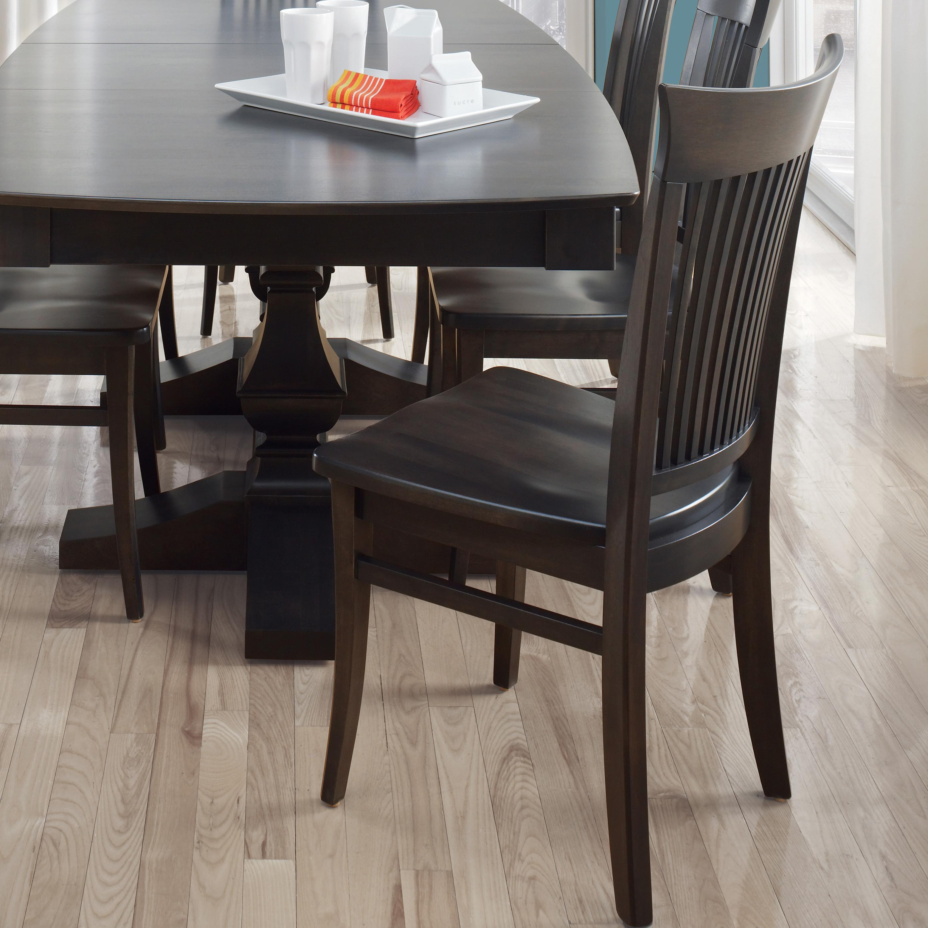 Custom Dining Customizable Side Chair - Wood Seat by Canadel at Saugerties Furniture Mart