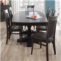 Canadel Custom Dining <b>Customizable</b> Boat Shape Table Set - Item Number: TBS4268+6xCHA270