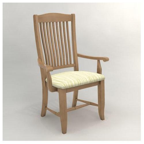 Canadel Custom Dining Cha00232ho20mpcwa Customizable Slat Back Upholstered Arm Chair John V
