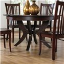 Canadel Custom Dining <b>Customizable</b> Round Table w/ Pedestal - Item Number: TRN054542424MSIDF