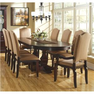 Canadel Custom Dining <b>Customizable</b> Oval Table Set w/ Leaves