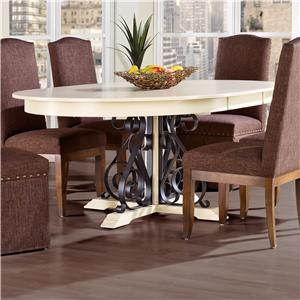 Canadel Custom Dining <b>Customizable</b> Round Table w/ Leaf