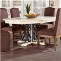 Canadel Custom Dining <b>Customizable</b> Round Table w/ Leaf - Item Number: TRN054546565ABUD1