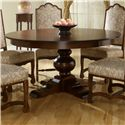 Canadel Custom Dining <b>Customizable</b> Round Table w/ Pedestal - Item Number: TRN060602727AXTDF