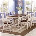 Canadel Custom Dining <b>Customizable</b> Rectangular Table Set - Item Number: TRE3648+2xCHA600-WA+4xCHA600