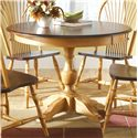 Canadel Custom Dining <b>Customizable</b> Round Table - Item Number: TRN042421801AXPAF
