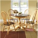 Canadel Custom Dining <b>Customizable</b> Round Table Set - Item Number: TRN4242+4xCHA41