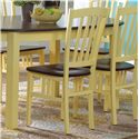 Canadel Custom Dining Customizable Slat Back Side Chair - Wood Seat