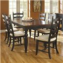 Canadel Custom Dining <b>Customizable</b> Rectangular Table Set - Item Number: TRE4268+6xCHA764