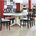 Canadel Custom Dining Customizable Rectangular Table with Pedestal - Item Number: TRE036688080MXQC1