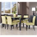Canadel Custom Dining <b>Customizable</b> Rectangular Table Set - Item Number: TRE3868+6xCHA5043