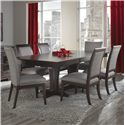 Canadel Custom Dining  <b>Customizable</b> Rectangular Table Set - Item Number: TRE4268+2CHA5014+4xCHA5010